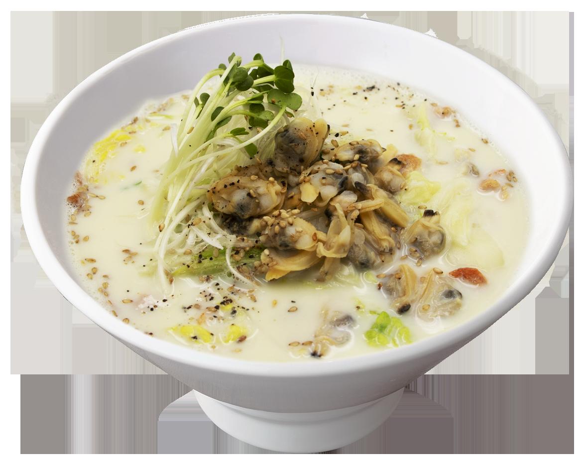 あさりの生姜豆乳湯麺