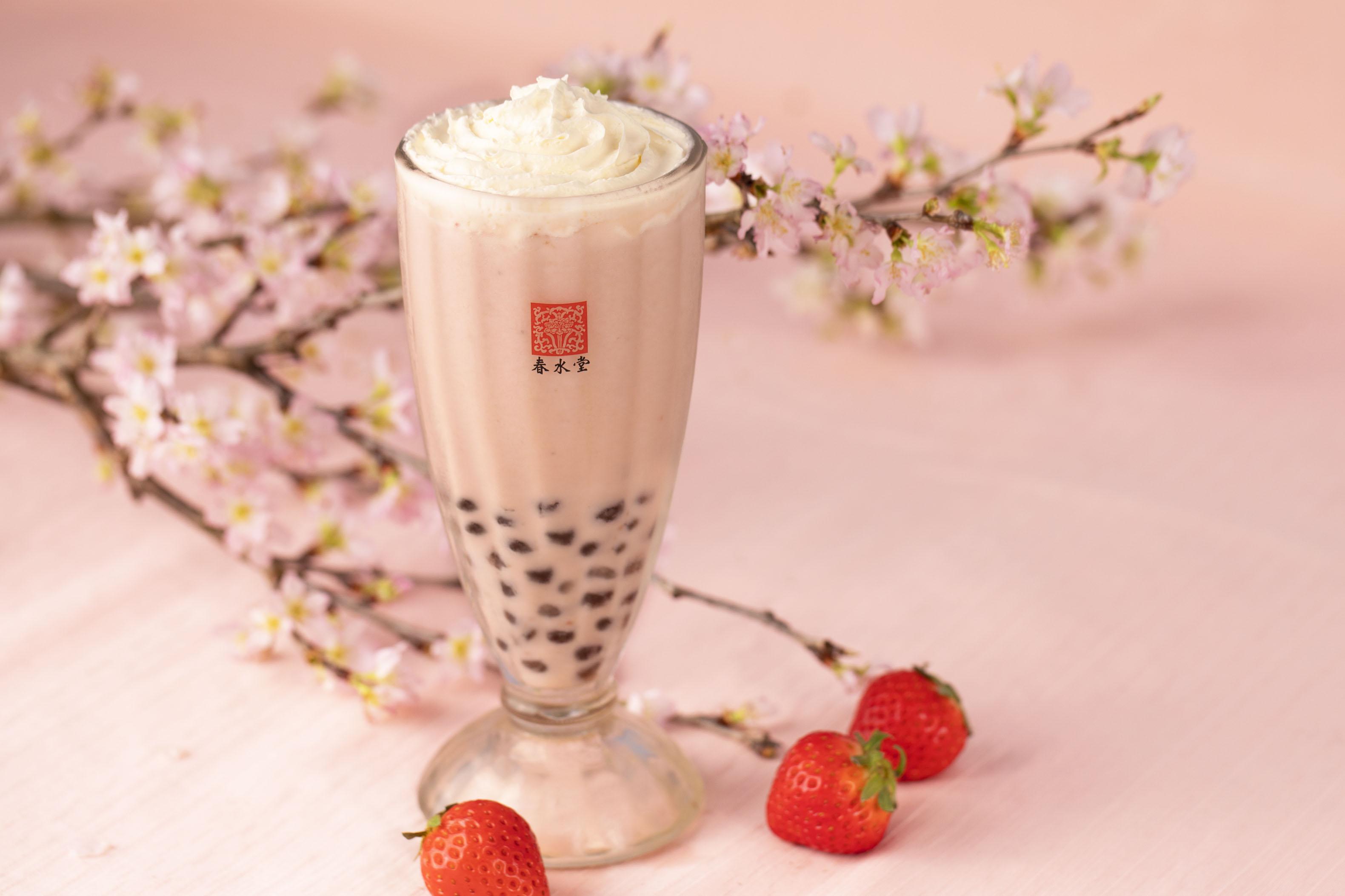 タピオカ桜ベリーミルクティー