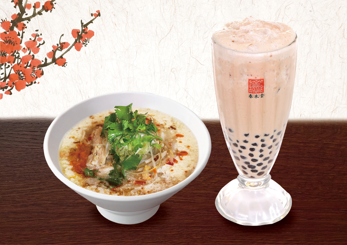 『豆漿鶏湯麺(トウジャンジータンメン)セット』1,550円(税込)