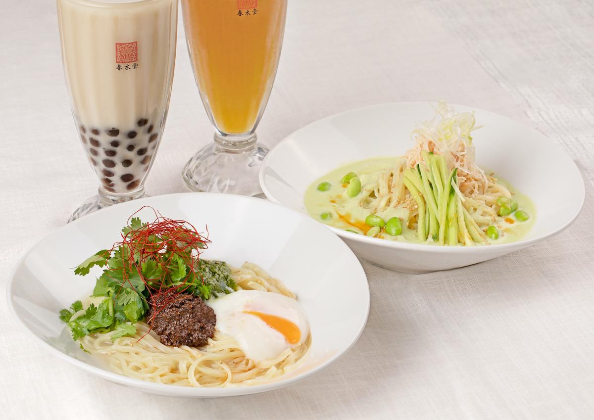 温玉パクチー&クリーミー枝豆。夏の涼麺2種新発売!