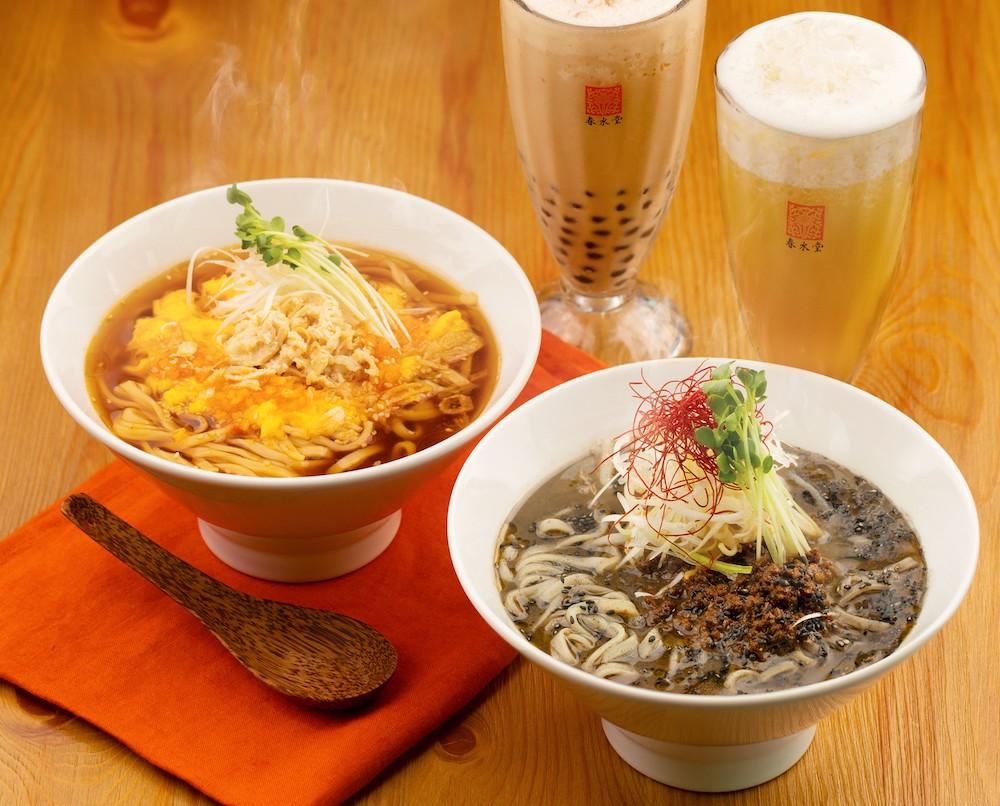 『黒胡麻担々麺』、『鶏と生姜の酸辣湯麺(スーラータンメン)』